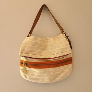 Fossil Explorer Flap Natural Bag